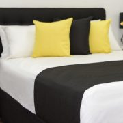 Pinnacle Black Bed Runner